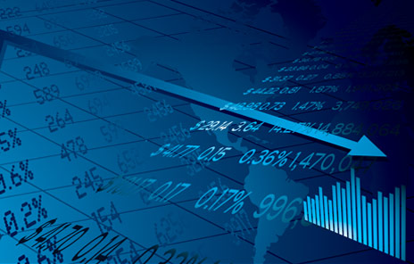 Financial graph - blue colour